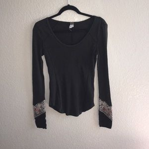 """Sweaters - Free People long sleeve embroidered """"we The Free"""""""